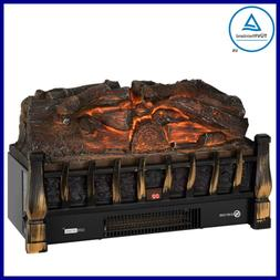 110V Electric Insert Log Quartz Fireplace Realistic Ember Be
