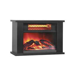 """14"""" Black Tabletop Electric Fireplace 750W Realistic Flame E"""