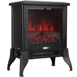 "VIVOHOME 1400W 17"" Electric Fireplace Stove Space Heater Log"