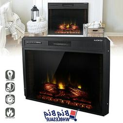"""1400W 30"""" Adjustable Electric Fireplace Heater Wall Insert F"""