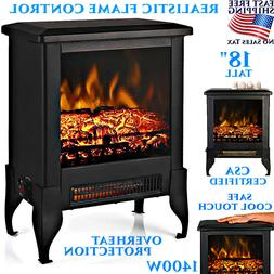 1500W ELECTRIC FIREPLACE STOVE SPACE HEATER REALISTIC LOG FL