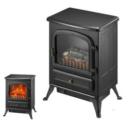 1500W Portable Electric Fireplace Space Heater Log Flame Sto