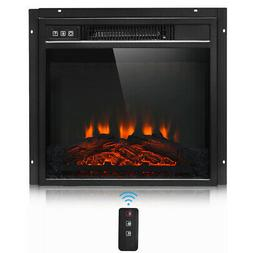 "18"" Electric Fireplace Freestand &Wall-Mounted Heater Log Fl"