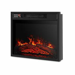 "18""Embedded Electric Fireplace Insert Remote Heater Adjustab"
