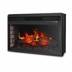 "26"" Flat Ventless Insert Heater Electric Fireplace Adjustabl"