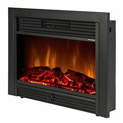 """28.5"""" Embedded Fireplace Electric Insert Heater Glass View L"""