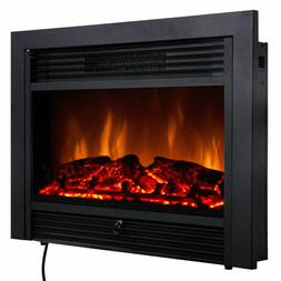 28.5'' Fireplace Electric Embedded Insert Heater Glass Log F