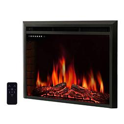 """R.W.FLAME 33"""" Electric Fireplace Insert,Freestanding & Reces"""