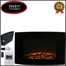 """35"""" Electric Wall Mount Fireplace Heater with Remote"""