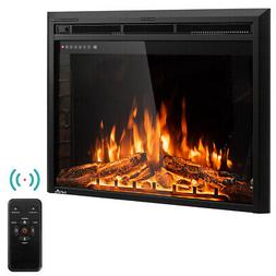 "36"" Electric Fireplace Insert Freestanding Stove Heater Touc"
