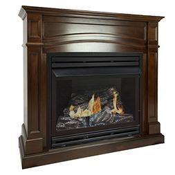 Pleasant Hearth 46 Full Size Cherry Natural Gas Vent Free Fi