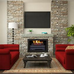 4777BTU Electric Fireplace Heater  Log Set with Realistic Em