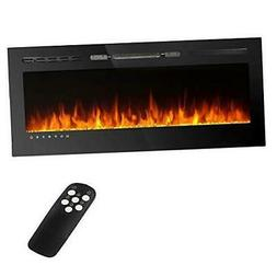 50 inches Recessed and Wall Mounted Electric Fireplace Heate