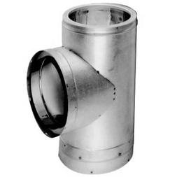 """DuraVent 6DT-STSS Class A 6"""" DuraTech Vent Pipe Tee; Stainle"""
