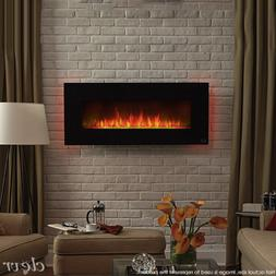 "39"" Wall Mount Electric Fireplace Heater 7-Day Programmable"
