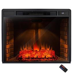 "AKDY 32"" Electric Fireplace Freestanding Brown Wooden Mantel"