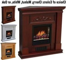 """Adjustable Corner or Flat Electric Fireplace 38"""" Mantle Fire"""