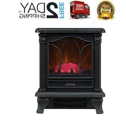 Black Amish Freestanding Electric Mantle Stove Fireplace Fir