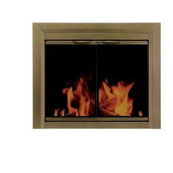 Cahill Cabinet Style Fireplace Screen and Smoked Glass Door,