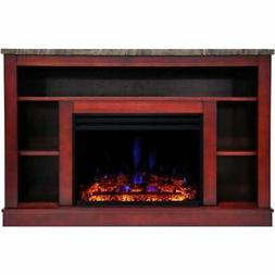 """Cambridge Seville Electric Fireplace Heater with 47"""" Cherry"""