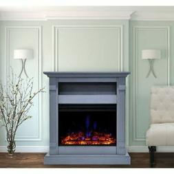"""Cambridge Sienna 34"""" Electric Fireplace Heater with Slate Bl"""