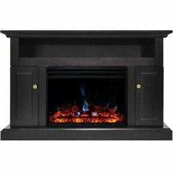 """Cambridge Sorrento Electric Fireplace Heater with 47"""" Black"""