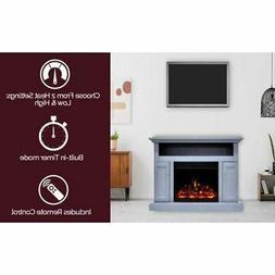 """Cambridge Sorrento Electric Fireplace Heater with 47"""" Blue T"""