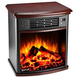 Charleston Portable Electric Fireplace Stove with Remote by