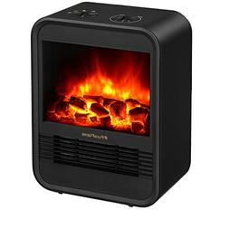 "PuraFlame 9"" Clara Mini Electric Fireplace Heater, 1250W, Bl"