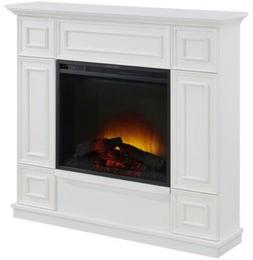 """Classic White Electric Fireplace w/ 44"""" Mantle Fireplaces He"""