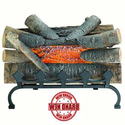 ELECTRIC FIREPLACE LOGS Fake Wood Burning Insert Crackling G
