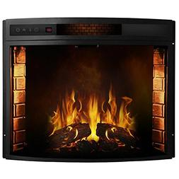 28 Inch Curved Ventless Electric Space Heater Built-in Reces