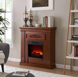 """DARK CHERRY Electric Heating Fireplace 38"""" Mantle Fireplaces"""
