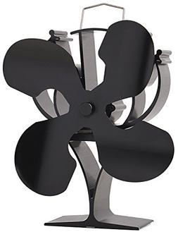 VODA New Designed 4 Blades Heat Powered Stove Fan for Wood/L