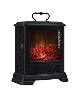 Duraflame Electric DFS-7515-01 Fireplace Stove Heater, Black