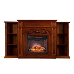 BOWERY HILL Infrared Electric Fireplace in Oak