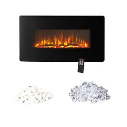 Innoflame E35c Wall Hanging Electric Fireplace Heater with R