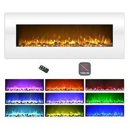 Northwest Electric Fireplace Wall Mounted Color Changing LED