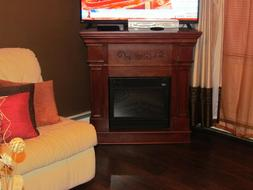 Electric Fireplace Heater 120-Volt Freestanding Remote Contr