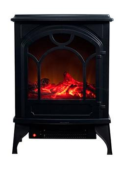 Electric Fireplace-Indoor Freestanding Space Heater with Fau