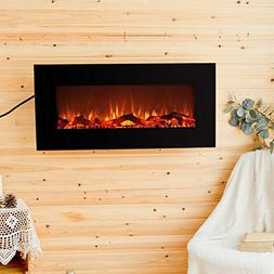 FLAME&SHADE Electric Fireplace Indoor Space Heater On Wall H