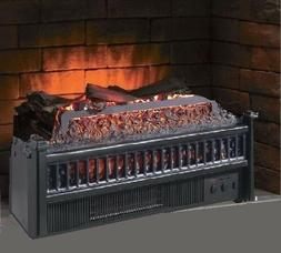 Electric Fireplace Insert Artificial Heater Log Portable RC