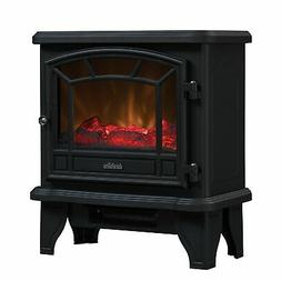 Electric Fireplace Stove Heater Realistic Flame Effect Black