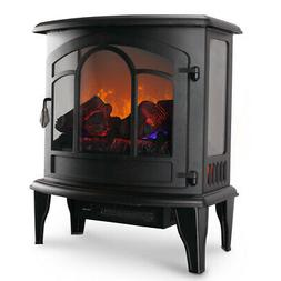 electric fireplace tempered glass adjustable 1400w heater