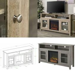 Electric Fireplace TV Stand Driftwood Media Console Heater E