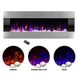 Northwest Electric Fireplace Wall Mounted with LED Fire and