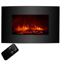 """1500W 33x22"""" Large Electric Fireplace Wall Mount Heater w/ R"""