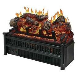 Electric Real Log Fireplace Flame Set W/Fan Forced Heater In