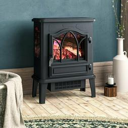 Electric Stove Fireplace Heater Flames Living Room Furniture