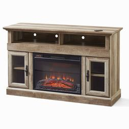 Fireplace Entertainment Center TV Stand Rustic Heater LED Fl